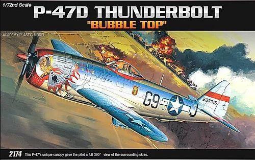"""Academy - P-47D """"Bubble Top"""" - 1/72"""