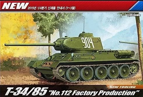 "Academy - T-34/85 ""Nº 112 Factory Production"" - 1/35"
