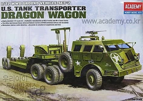 Academy - U.S. Tank Transporter Dragon Wagon - 1/72