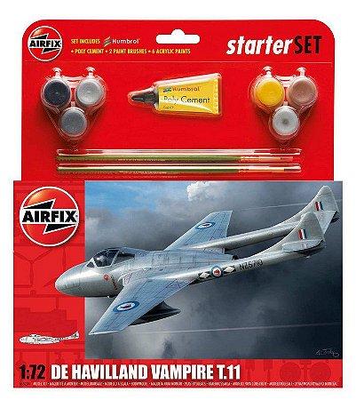 AIRFIX - DE HAVILLAND VAMPIRE T.11 STARTER SET - 1/72