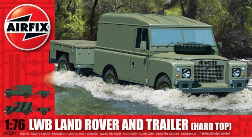AIRFIX - LWB LAND ROVER & TRAILER (HARD TOP) - 1/76