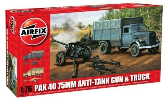 AIRFIX - PAK 40 ANTI TANK GUN & TRUCK - 1/76