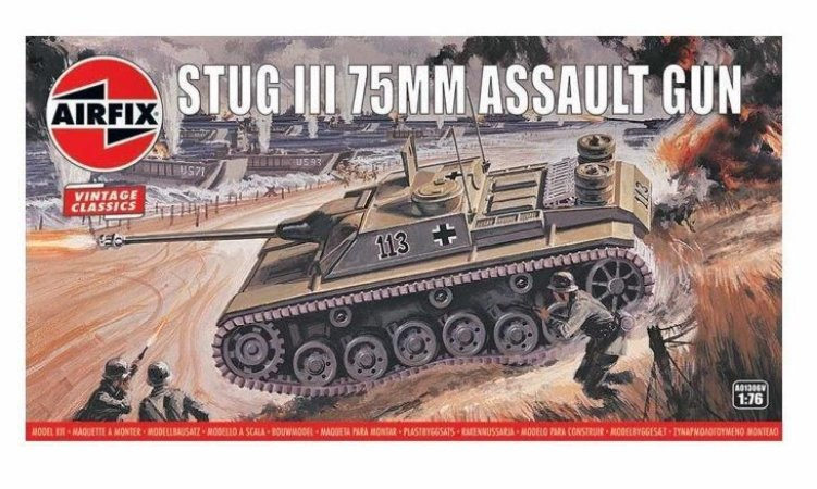 AIRFIX - STUG III 75MM ASSAULT GUN - 1/76