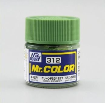 Gunze - Mr.Color 312 - Green FS34227 (Semi-Gloss)