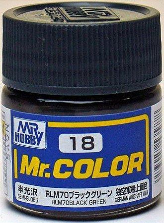 Gunze - Mr.Color 018 - RLM70 Black Green (Semi-Gloss)