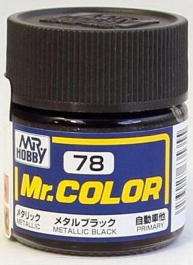 Gunze - Mr.Color 078 - Metal Black (Metallic)