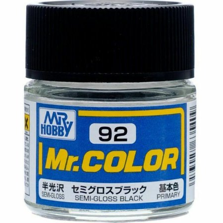 Gunze - Mr.Color 092 - Semi-Gloss Black