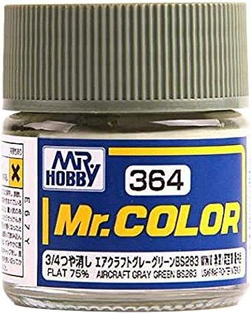Gunze - Mr.Color 364 - AIRCRAFT GRAY GREEN BS283 (Flat)