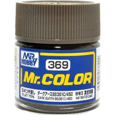 Gunze - Mr.Color 369 - DARK EARTH BS381C/450 (Flat)