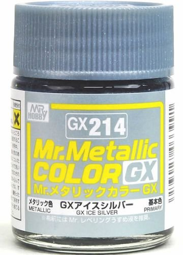 Gunze - Mr.Metallic Color GX214 - Ice Silver (Metallic)