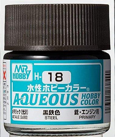 Gunze - Aqueous Hobby Colors 018 - Steel (Metallic)