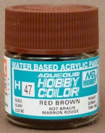 Gunze - Aqueous Hobby Colors 047 - Red Brown (Gloss)