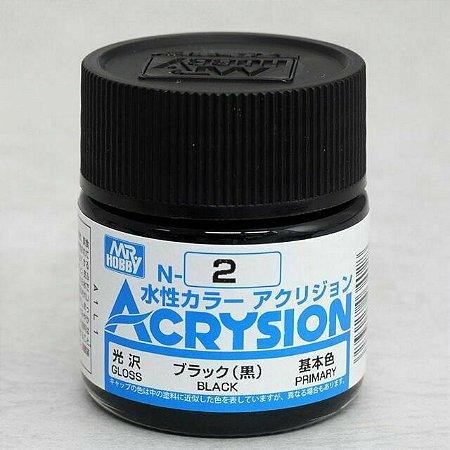Gunze - Acrysion Color 002 - Black (Gloss)