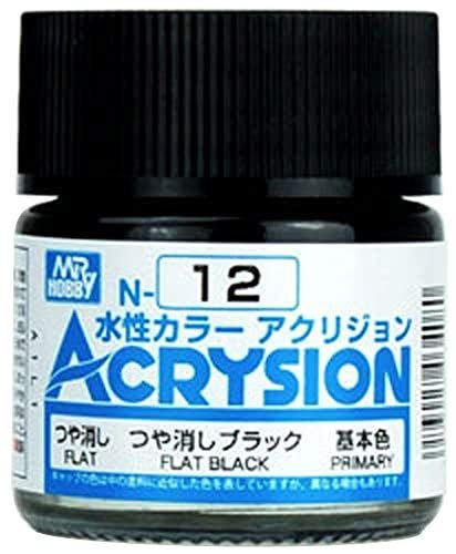 Gunze - Acrysion Color 012 - Flat Black