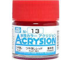 Gunze - Acrysion Color 013 - Flat Red