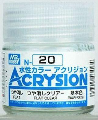 Gunze - Acrysion Color 020 - Flat Cear (Verniz Fosco)