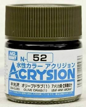 Gunze - Acrysion Color 052 - Olive Drab (1) (Semi-Gloss)