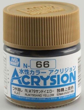 Gunze - Acrysion Color 066 - RLM79 Sandy Yellow (Semi-Gloss)
