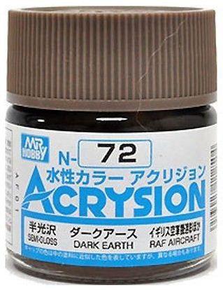 Gunze - Acrysion Color 072 - Dark Earth (Semi-Gloss)