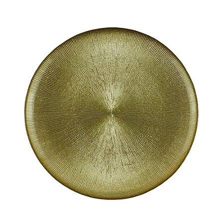 Jogo de 6 Pratos de Sobremesa 21cm Dots Dourado