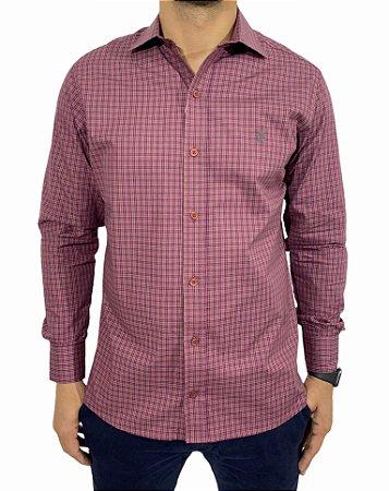 Camisa Manga Longa Xadrez Pink