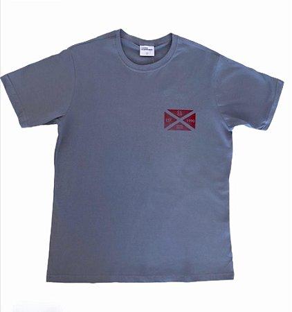 Camiseta Estampada Cinza