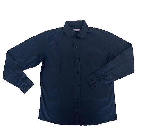 Camisa Lisa Azul Marinho