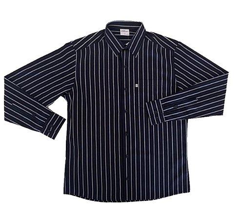 Camisa Listrada Preto/Branco