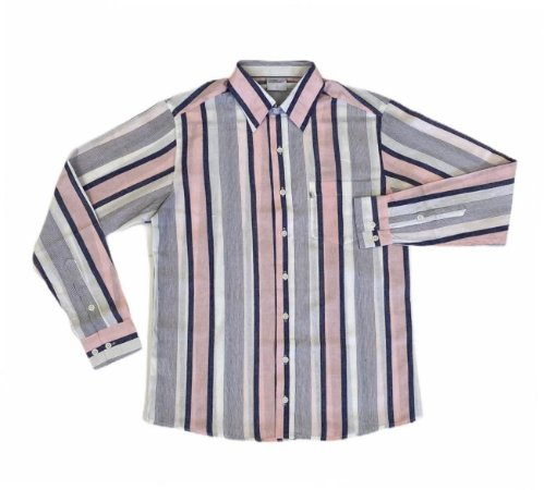 Camisa Listrada de Azul/Rosa/Branco