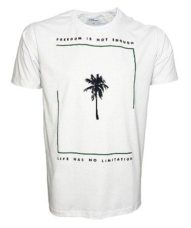 Camiseta Branca Palmeira