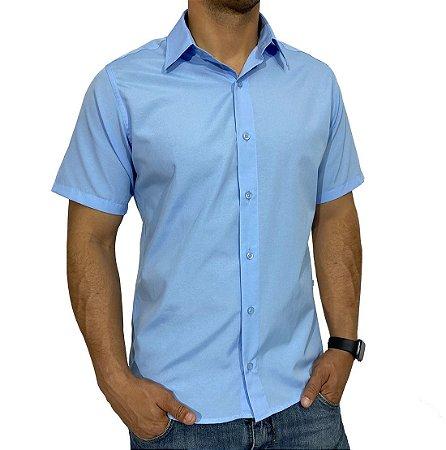 Camisa Manga Curta Azul Claro