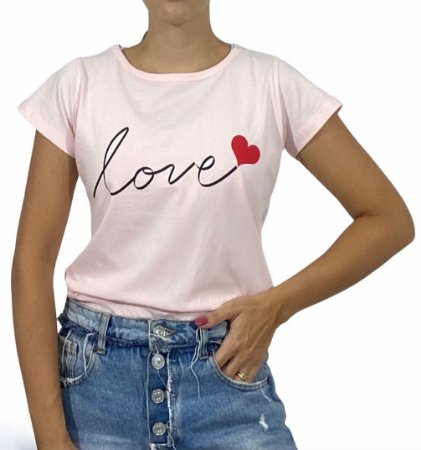 Tshirt Feminina Love