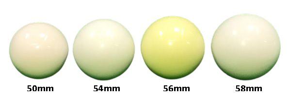 Bola branca (bolão) 50 – 54 – 56 e 58mm