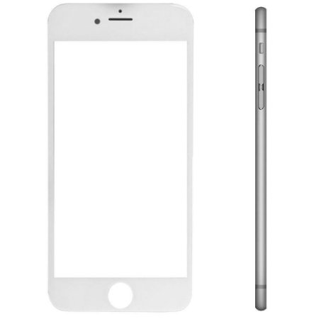 Pç Apple Vidro iPhone 6s Plus Branco com Aro