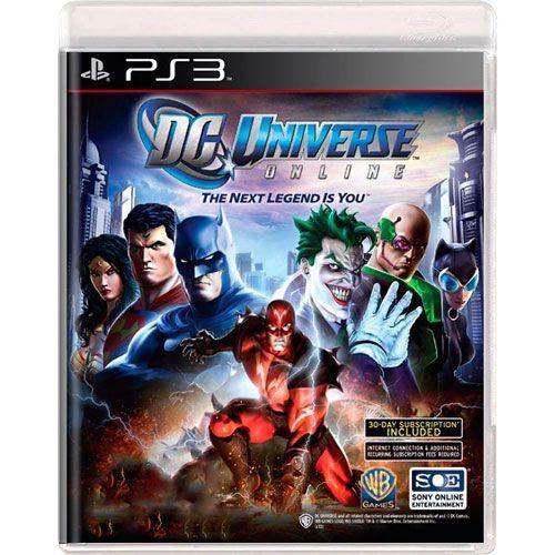 Jogo DC Universe online - PS3 (Seminovo)