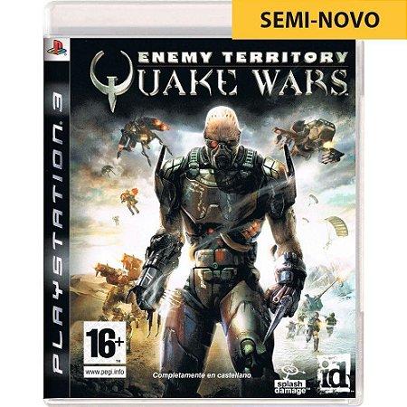 Jogo Enemy Territory Quake Wars - PS3 (Seminovo)
