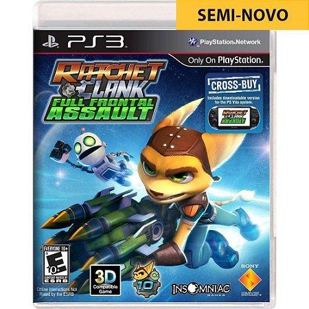Jogo Ratchet & Clank Full Frontal Assault - PS3 (Seminovo)