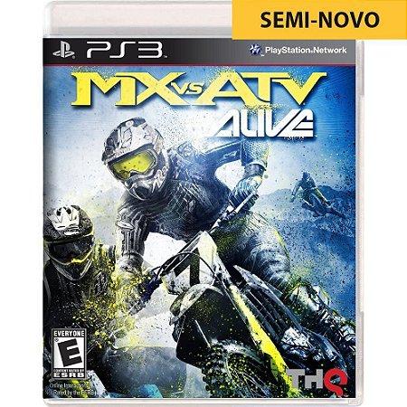 Jogo MX vs ATV Alive - PS3 (Seminovo)