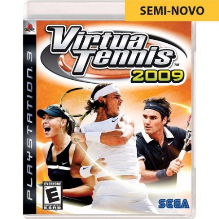 Jogo Virtua Tennis 2009 - PS3 (Seminovo)