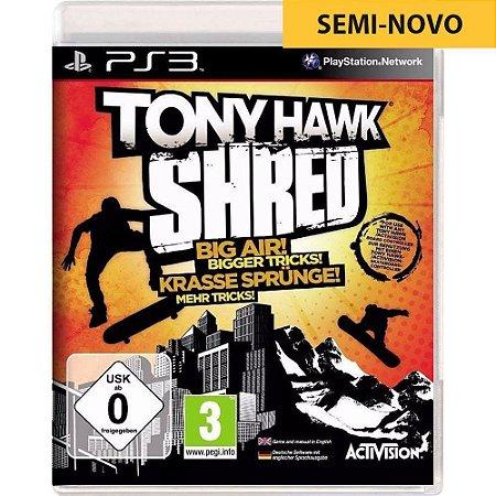 Jogo Tony Hawk Shred - PS3 (Seminovo)
