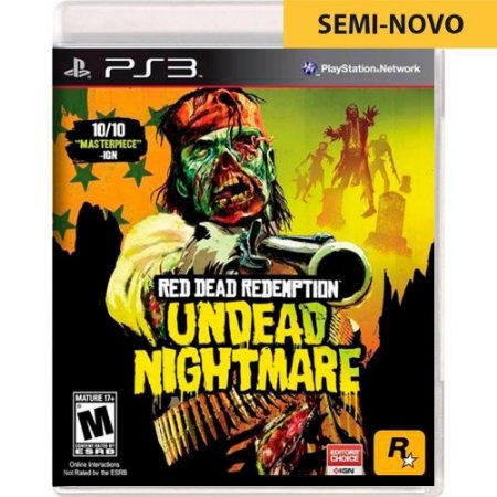 Jogo Red Dead Redemption Undead Nightmare - PS3 (Seminovo)