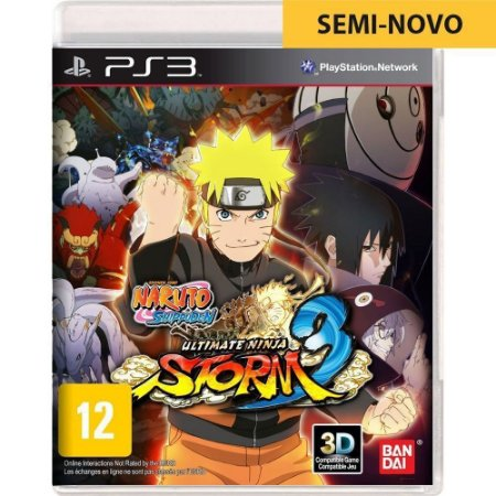 Jogo Naruto Shippuden Ultimate Ninja Storm 3 - PS3 (Seminovo)