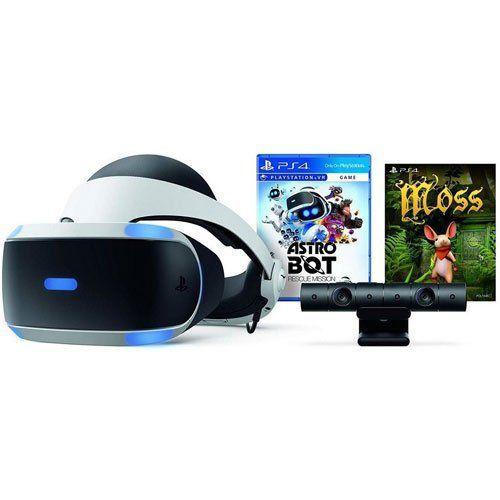 Oculos PlayStation VR + Câmera + Jogo Astro Bot + Jogo Moss - PS4