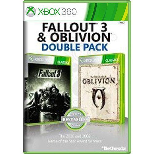 Jogo Fallout 3 & Oblivion Double Pack - Xbox 360 (Seminovo)
