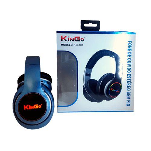 Fone de Ouvido Kingo KG-700 Bluetooth Azul