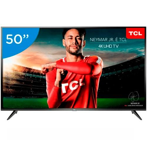 """Smart TV LED 50"""" TCL 4K UHD Android Bluetooth"""