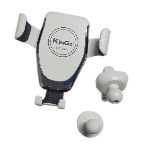Suporte Veicular Kingo KG-66 Carregador Wireless Branco