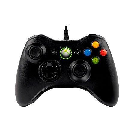 Controle Xbox 360 Com Fio Microsoft (Seminovo)