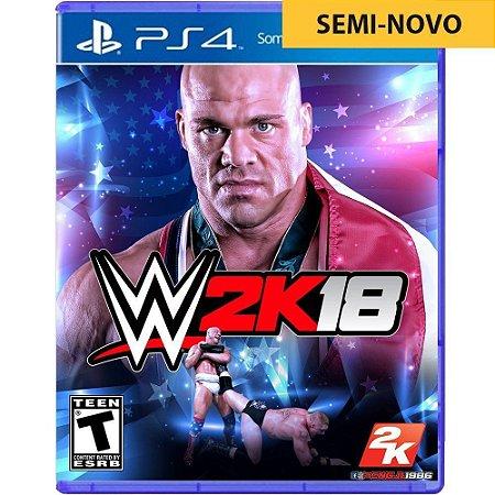 Jogo WWE 2K18 - PS4 (Seminovo)