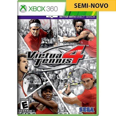 Jogo Virtua Tennis 4 - Xbox 360 (Seminovo)